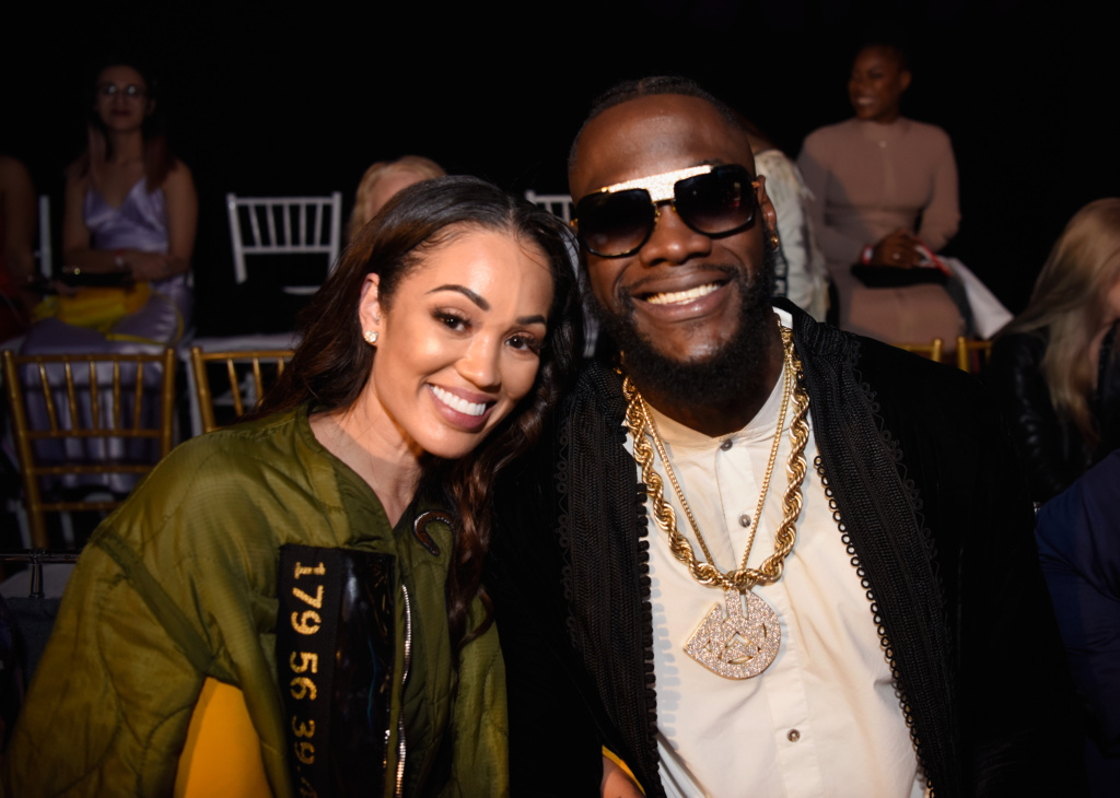 Telli Swift and Deontay Wilder at LA Fashion Week FW19 powered by Art Hearts Fashion